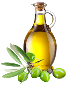 Glass flask of Olive Oil