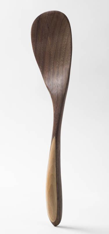 Paddle Spatula, in walnut and birch
